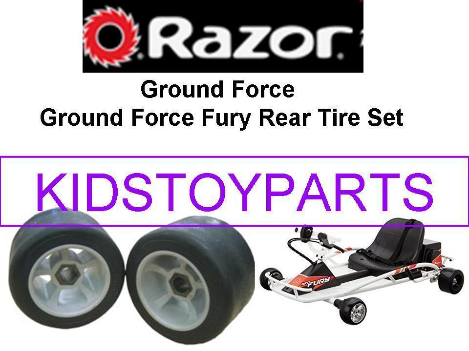 Razor Ground Force Drifter FURY Scooter Rear Wheel Set of 2 Wheels Genuine Tires