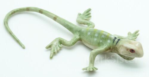 Figurine Animal Ceramic Statue Green Lizard Chameleon Gecko Skink CAS007