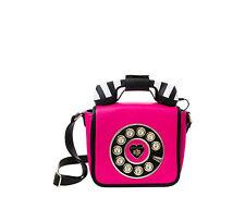 Betsey Johnson KITSCH BETSEYS HOTLINE PHONE Crossbody BJ68400N FUCHSIA w STRIPES