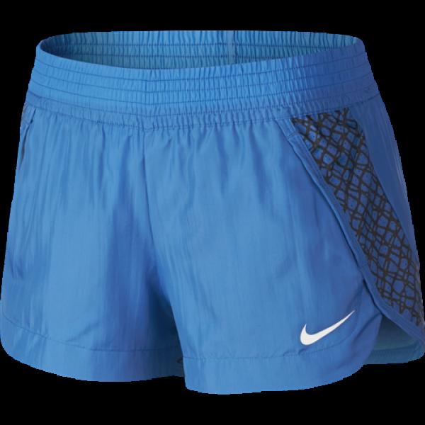 820935742123 Nike Women's Blue Black White Franchise Printed 2 Workout Shorts L ...