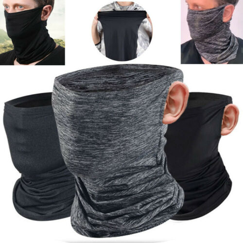 3pcs Solid Fishing Biker Tube Bandana Neck Gaiter Face Cover Balaclava Scarf NEW