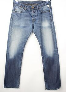 Replay-Hommes-Slim-Jeans-Jambe-Droite-Taille-W34-L34-AVZ113