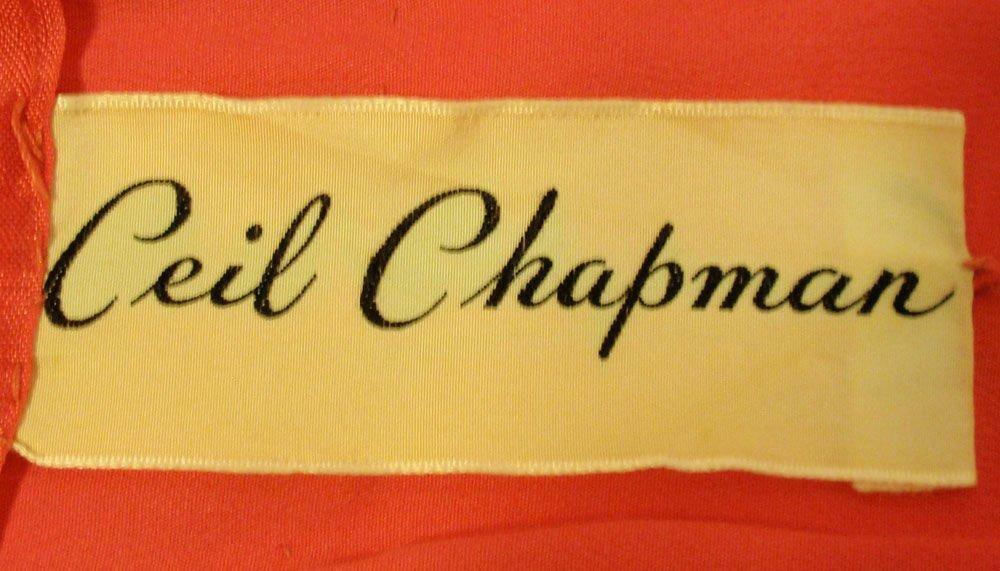 CEIL CHAPMAN 1950s Raspberry Chiffon Cocktail Dre… - image 10
