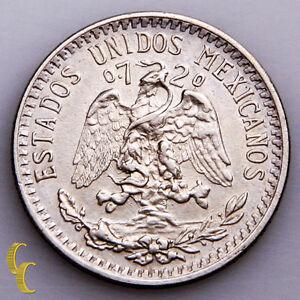 1921-Mexico-20-Centavos-Silver-Coin-In-BU-KM-438