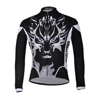 Winter Wolf Men's Jersey Long Clothing Bicycle Bike Jacket Cycling Clothes