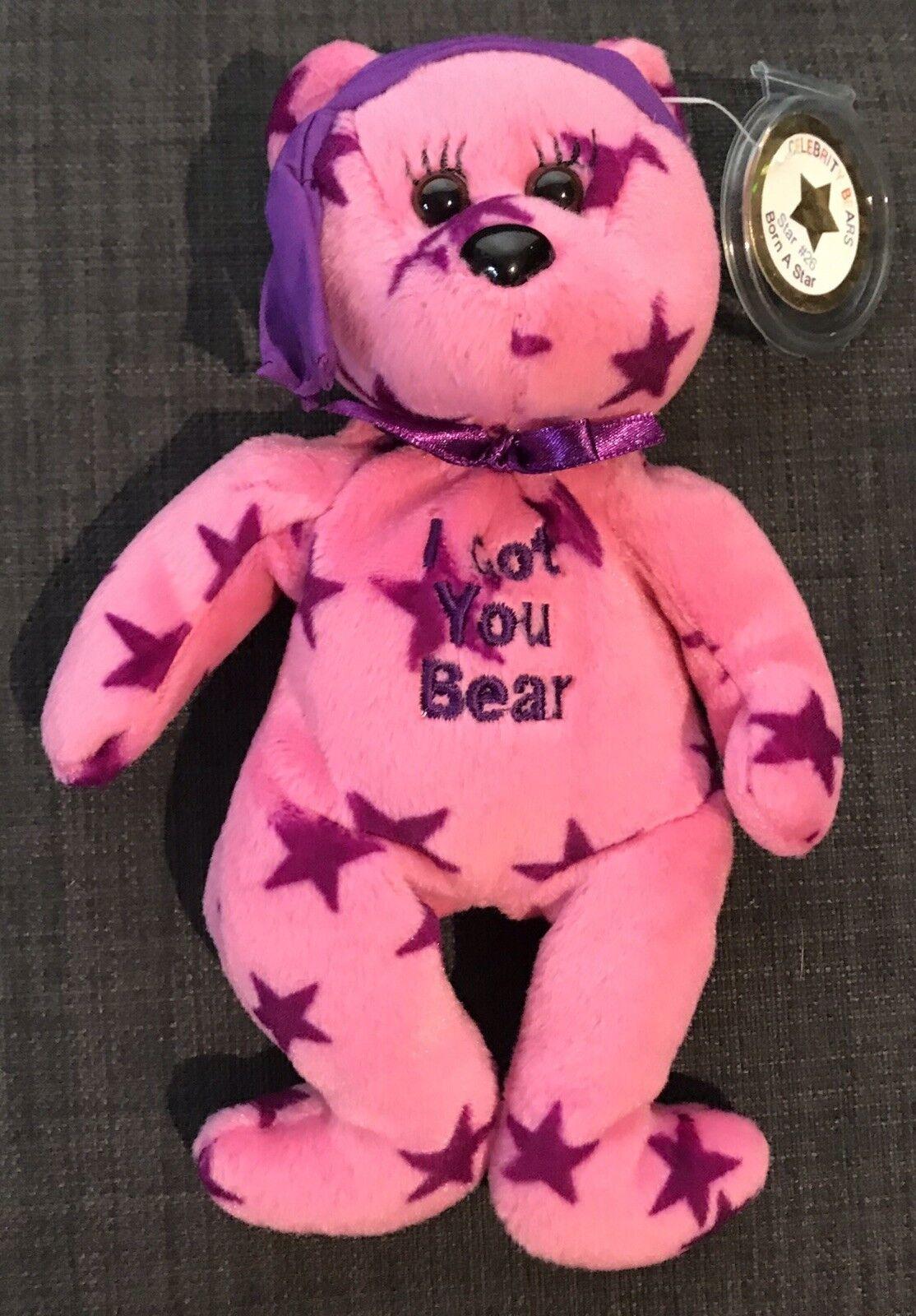 Cher I Got You Bear Beanie Kids Celebrity Bear like new VERY RARE