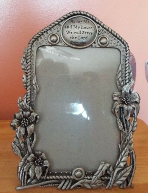 As For Me And My House We Will Serve The Lord Pewter 5x7 Picture