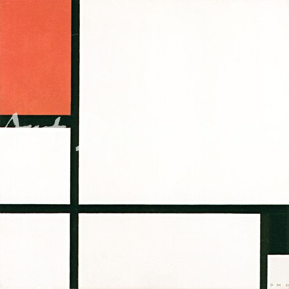 Composition 1929-Mondrian - - CANVAS OR PRINT WALL ART