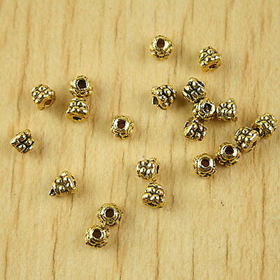150pcs Metallic Golden Color Acrylic Mouse Face Beads 12mm Jewelry Making