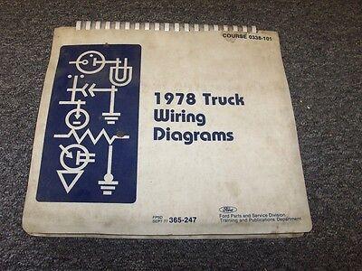 1978 Ford F250 F350 F500 F600 F750 F Series Electrical ...