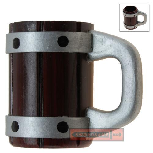 Small Medieval Tavern Tankard Beer Mug Hardwood Hand Carved Display Renaissance