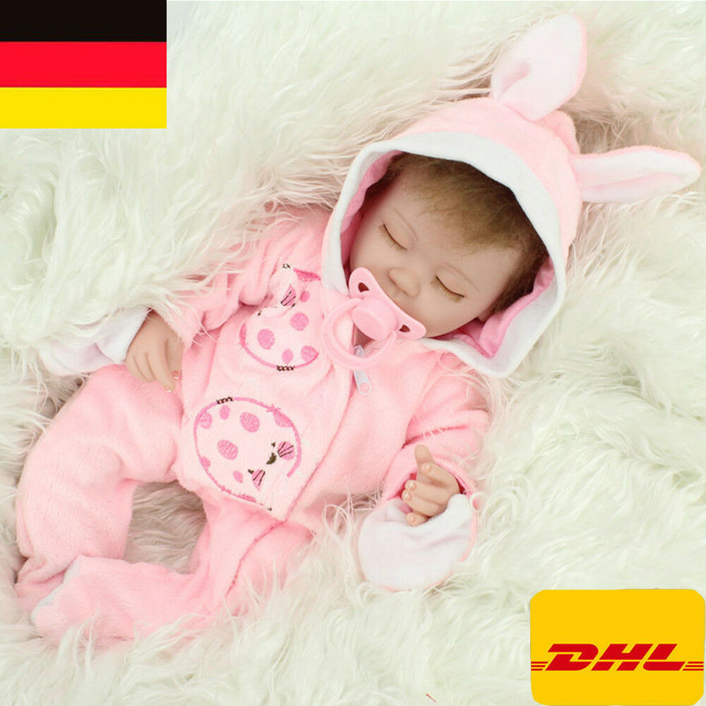 15  reborn Baby Puppe Lebensecht Handgefertigt  Weich Silikon-Vinyl Mädchen DHL