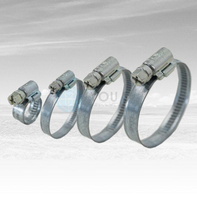 50 Stück 9 mm 80-100mm Schneckengewinde Schlauchschellen Schellen Stahl Verzinkt