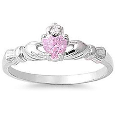 Elegant Femme cœur Shape 1.85 ct Rose Sapphire 925 Silver Ring Taille 6-10