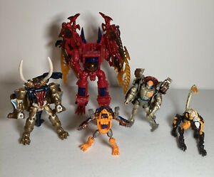 Transformers Beast Wars Transmetals Lot 5 Figures As Is