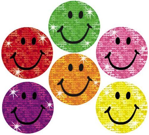 160 Funkeln Smiles Belohnungs Sticker groß 18mm Motivieren in der schule//