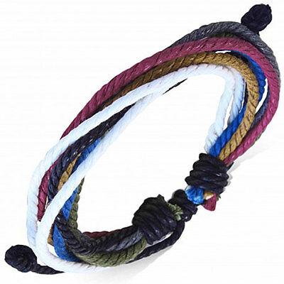 Cord Surf Bracelet Bright Coloured Surfer Men's Wristband Bracelet by Urban Male