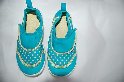 M&S Turquoise Mix Neoprene Riptape Water Shoes Size UK 9 (Infant) EUR 27 BNWT