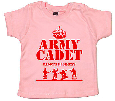 "Lustig Baby T-shirt "" Armee Cadet In Daddy's Regiment "" Kleidung Soldat Geschenk Utmost In Convenience"