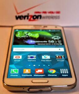 Unlocked Samsung Galaxy S5 16gb White No Contract Verizon Prepaid Phone Ebay