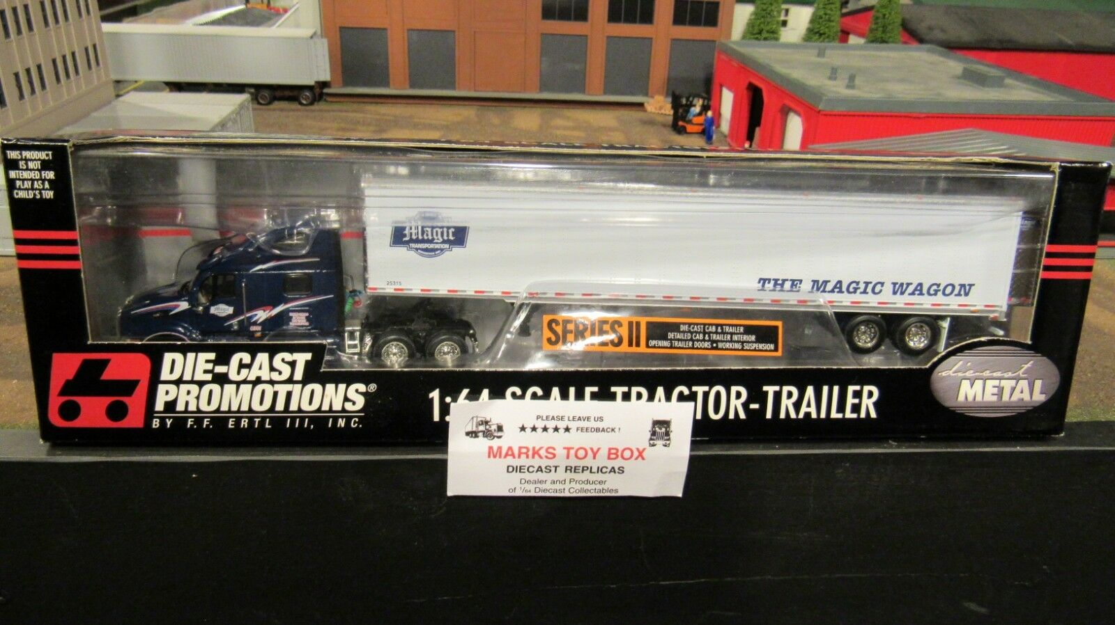 DCP 30331 THE MAGIC TRANSPORTATION WAGON PETE 387 SEMI DRY VAN TRAILER 1:64/CL