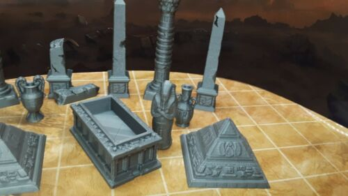 13 Piece Egyptian Tomb Decoration Set Mummy Pharaoh Scatter Terrain Scenery