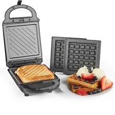 VonShef 2 in 1 Sandwich Toaster Waffle Maker Iron Toastie Machine Grill Press