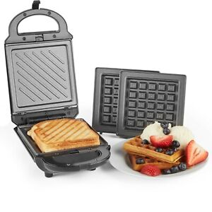 VonShef-2-in-1-Sandwich-Toaster-Waffle-Maker-Iron-Toastie-Machine-Grill-Press