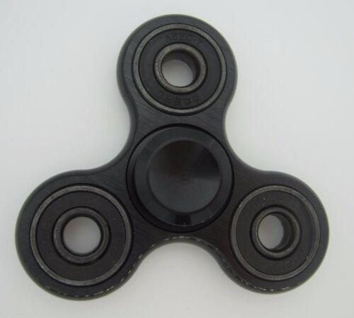 Fidget Tri  Spinner Hand Spinner Aluminium  Anti Stress Fidget Spinner schwarz