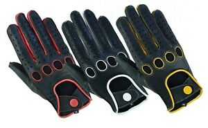 Men-039-s-Classic-Genuine-Real-Soft-Leather-Chauffeur-Driving-Gloves-Reverse-Stitch