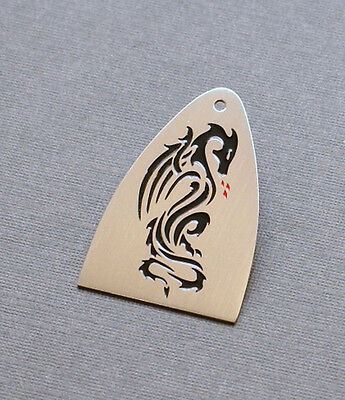 Hand Made Truss Rod Cover that fits Paul Reed Smith Guitar - PRS - Dragon Design