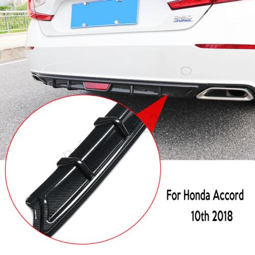 For Honda Accord 10th 2018 Carbon Fiber PP Rear Bumper Diffuser Lip Spoiler Wing