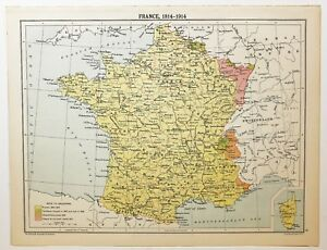Poitou France Map.Historical Map France 1814 1914 Poitou Normandy Paris Champagne