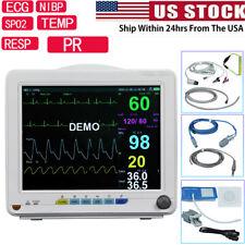 Vet Veterinary Icu Ccu Patient Monitor Nibp Spo2 Ecg Temp Resp Hr Vital Signs Ce