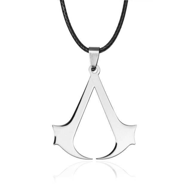 Punk Gothic Assassin's Creed 3 Black Flag Halskette Logo der Assassinen Bioworld