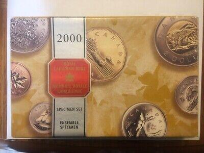 2000 CANADA ROYAL CANADIAN MINT SPECIMEN 7 COIN SET IN ORIGINAL MINT BOX /& COA