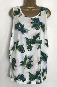 Dorothy-Perkins-Maternity-Ivory-Print-Cotton-Jersey-Sleeveless-Top-Size-12
