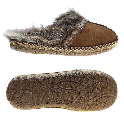 Neu Tom Tailor Damen Hausschuhe - Pantoffeln - Warmfutter - Camel - 1694301