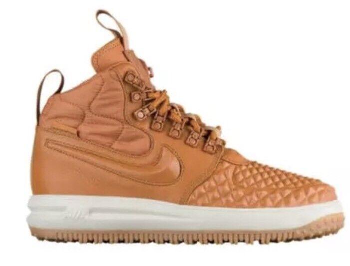 Nike Air AF1 Lunar Force Orange Watershield Women's Duck Boots Sz 9 3268