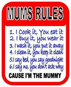Beautiful Image Is Loading Fun Mums Rules Bedroom Kitchen Office Design Metal