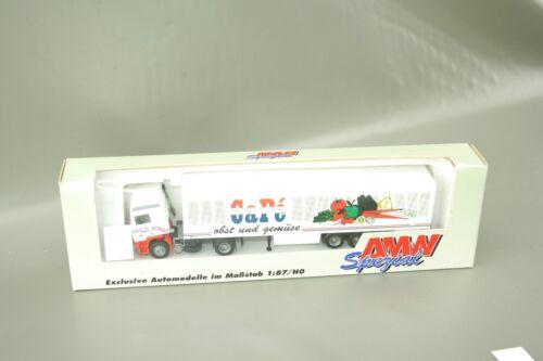 """AMW Volvo Sattelzug LKW /""""CaPe Obst und Gemüse/"""" 70149 1:87 H0 OVP NOS AWM"""