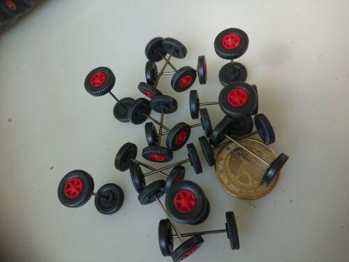 Wiking 1:87 HO 20 STK Rad Reifen Trilex rot Felgen Felge Radsatz aufgeachst h0