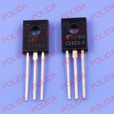 C3423 2 pair per Lot TO126 2SA1360-Y /& 2SC3423-Y A1360