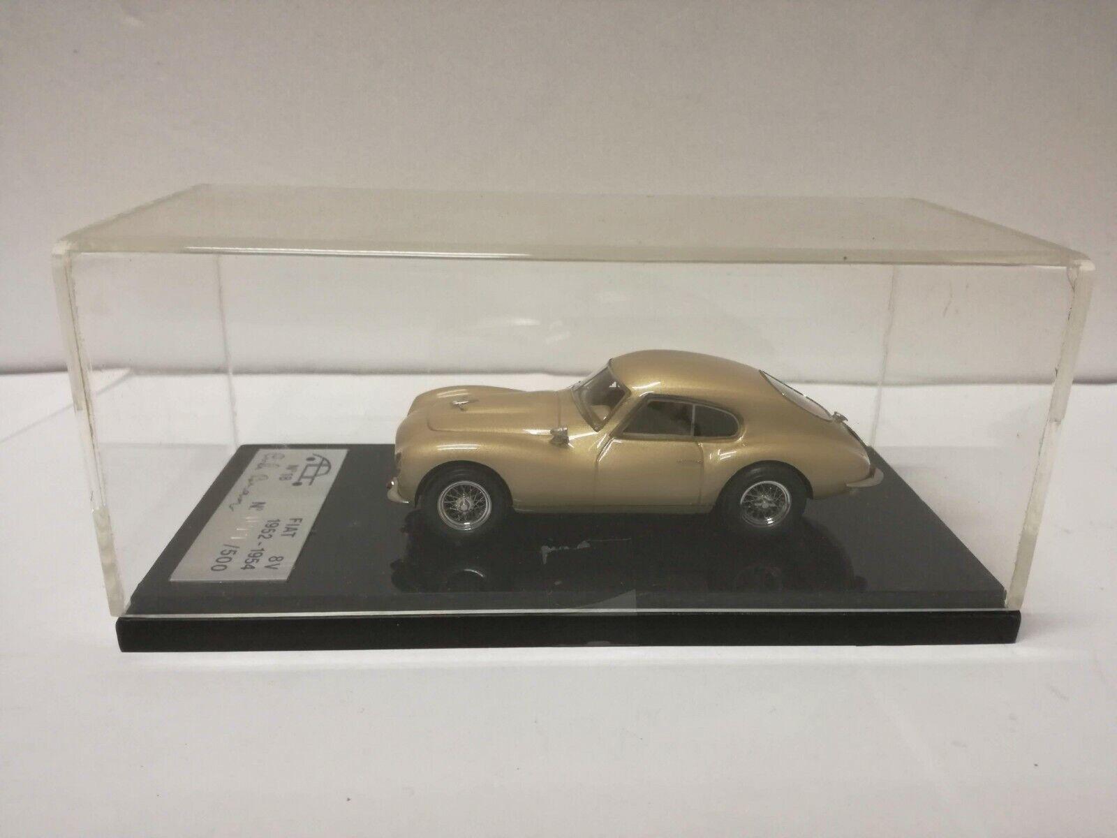 ABC 018 FIAT 8V 2°serie 1954 CARLO BRIANZA CAR MODEL MODELLINO ready built 1 43