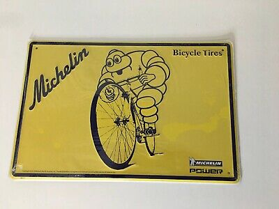 "MICHELIN Man Motorcycle Bike Garage Shop Gas Tire Metal Sign 12x12/"" 50181"