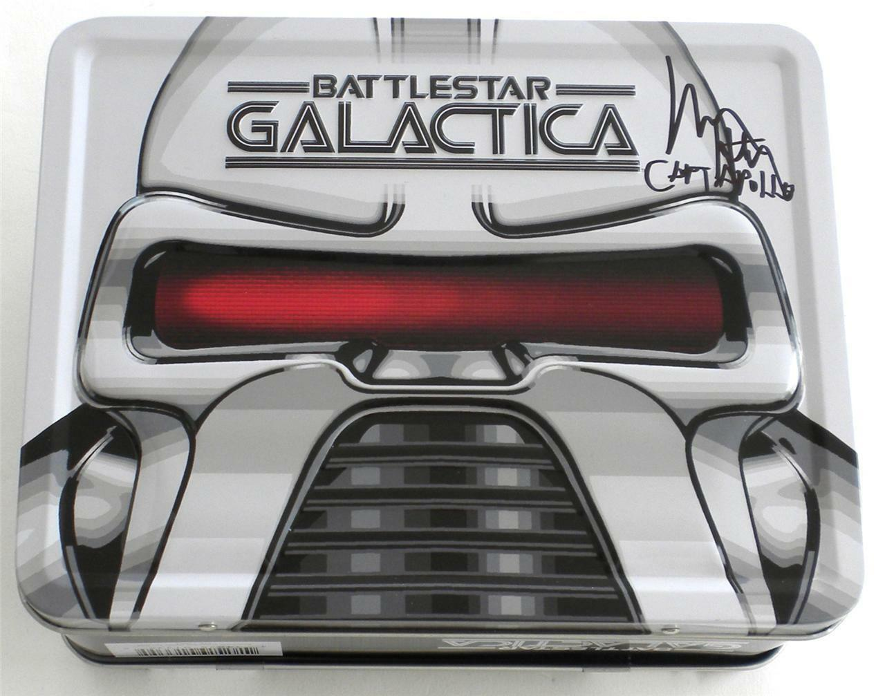 SIGNED Richard Hatch APOLLO SDCC Battlestar Galactica Cylons Tin Tote ONLY 1500