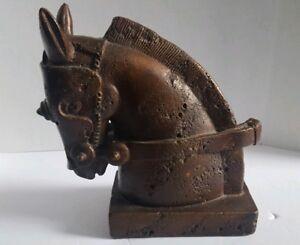 Vintage-Trojan-Horse-Head-Sculpture-Vintage-Stone-Look-11-034-Tall