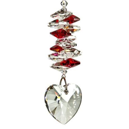 Woodstock Chimes CCHR Crystal Heart Cascade ROSE
