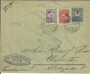 100% Vrai La Turquie Ottoman Postal Enveloppe Hg:b28 Revalorisé Sc#293, #299 Voivoda (galata RéSistance Au Froissement