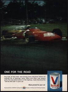 1969 VALVOLINE Motor Oil - Indy 500 Race Car - VINTAGE MAGAZINE ADVERTISEMENT